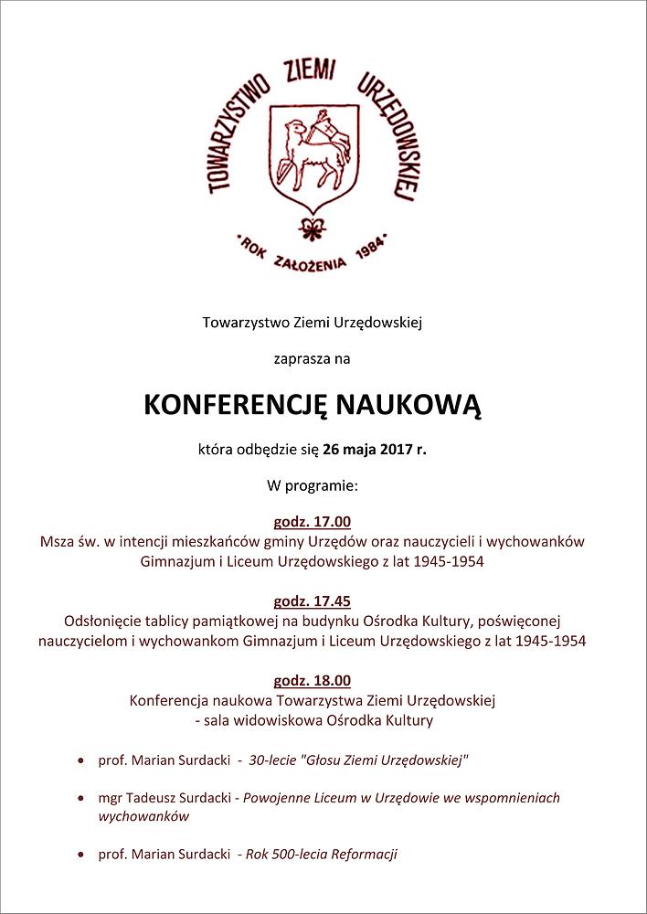 Towarzystwo Ziemi Urzędowskiej- konferencja-m
